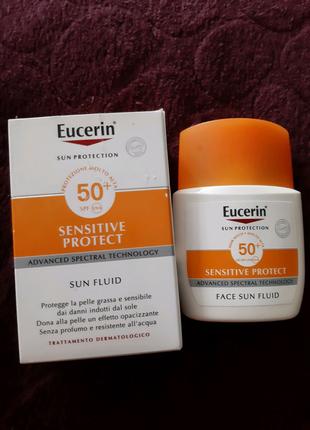 Eucerin солнцезащитный флюид, крем