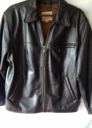 Распродажа!  куртка кожаная мужская размер 50 (l)