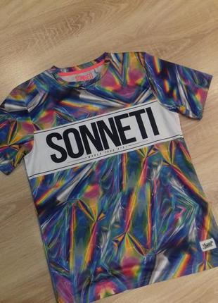 Скидка! футболка подростковая на 12-13 лет sonneti турция