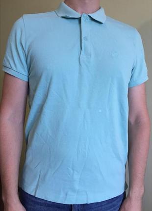 Чоловіче поло, футболка бірюзова, голуба.