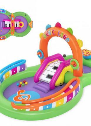 Детский игровой надувной центр BW53117 с горкой, игровой надув...