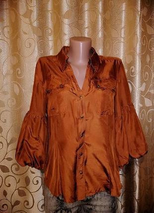 🌺🎀🌺стильная женская шелковая блузка, рубашка рукава с воланами...