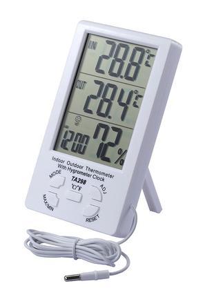 Метеостанция термометр гигрометр часы с выносным датчиком TA298