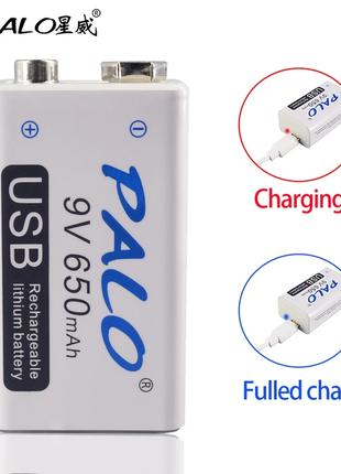 Крона, Аккумулятор USB 9V 650 MAh