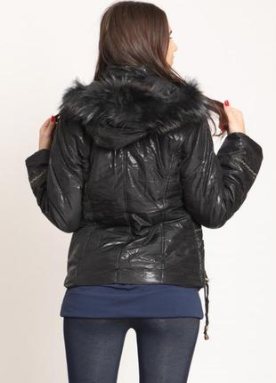 Размер s, опушка натуральный мех! куртка деми или теплая зима ...