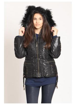Размер l, опушка натуральный мех! куртка деми или теплая зима ...