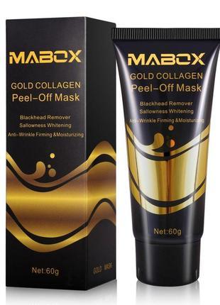 Маска пленка с 24к золотом и коллагеном anti-age mabox