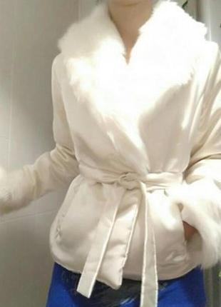 Курточка демисезонная с мехом