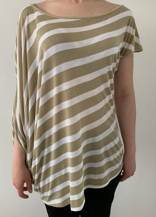 Легка бежева блуза, блузка, кофта, футболка літня.