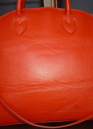 Шикарная большая сумка натуральная кожа borse in pelle италия