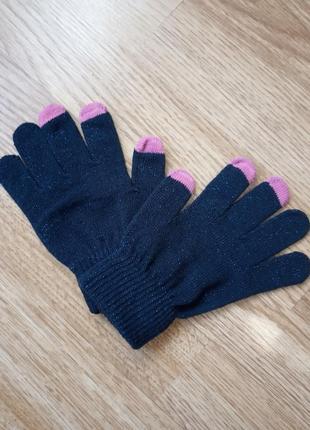 Перчатки блестящие tu для сенсора