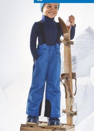 Зимний лыжный комбинезон штаны полукомбинезон lupilu