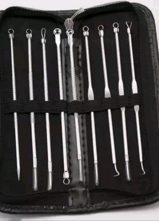 Набор для чистки лица, инструмент для удаление акне, угрей, точек