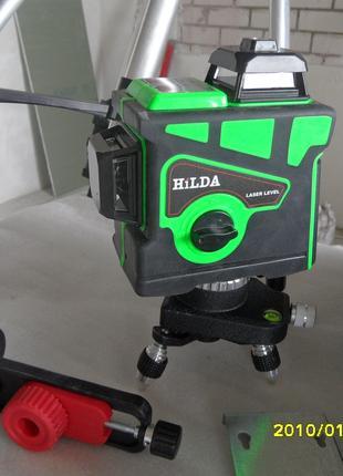 Лазерный 3D уровень HILDA зелёный луч