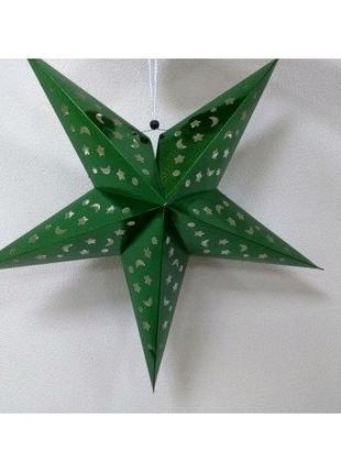 Бумажная звезда для декора 60 см