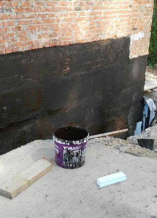 Гидроизоляция фундамента, бетона.