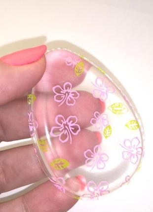 Спонж для макияжа силиконовый pink flower probeauty