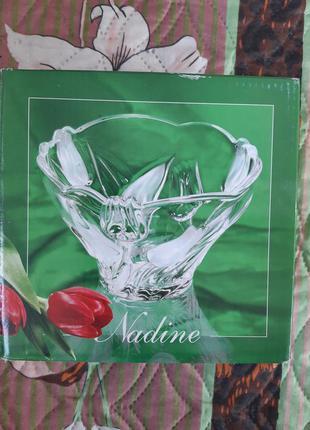 Салатник nadine walther-glas цветы
