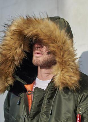 Мужская зимняя куртка парка аляска