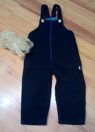 Полукомбинезон, комбенизон, штаны велвет детские