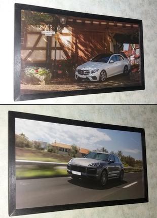 Картина Mercedes W213 Porsche Cayenne Turbo подарок мужчине мужу