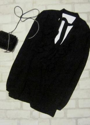 Sale!крутецкая блуза с воланами и галстуком