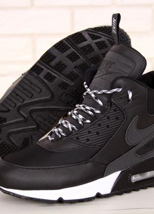 Кроссовки Nike Air Max 90 Sneakerboot Зимние (На Меху)