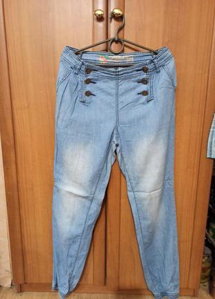 Классные летние штаны джинсы тоненькие под манжет спортивного ...