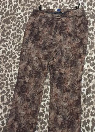 Красивые брюки штаны джинсы с орнаментом большой размер батал