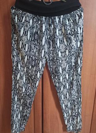 Шикарные модные штаны брюки джогеры под резинку можно беременн...
