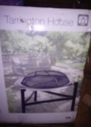 Складной угольный мангал барбекю с решеткой для гриль