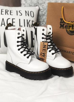 💞dr martens jadon white💞зимние белые кожаные женские ботинки м...