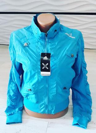 Спортивная куртка укороченная ветровка adidas