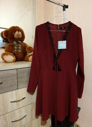 Платье новое с биркой/платье кружево/платьев missguided/платье...