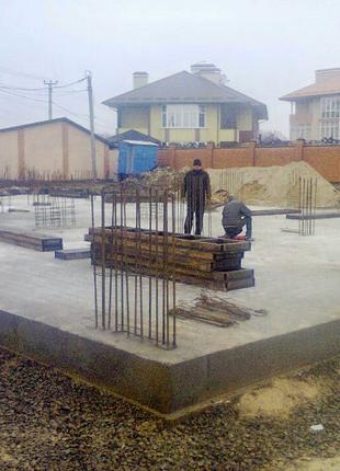 Строительство фундаментов, монолитные бетонные работы