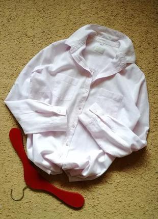 Льняная рубашка блуза оверсайз лавандового цвета