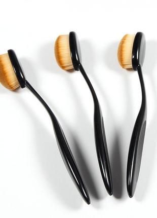 Кисть + крышка кисть для макияжа овальная кисть щетка овал pro...