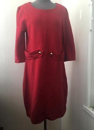 Стильное тёплое платье,шерстяное, натуральная валяная шерсть