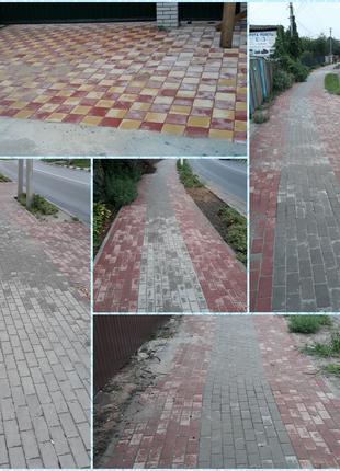 Укладка тротуарной плитке