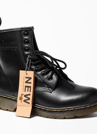 Шикарные мужские зимние ботинки dr. martens 1460 black fur 😍 {с