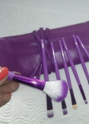 Кисти для макияжа 7 шт. набор в футляре violet probeauty