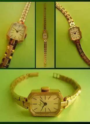 ПОЗОЛОЧЕННЫЕ часы 80-х. МЕХАНИЧЕСКИЕ «ЛУЧ-1801» сделано в СССР