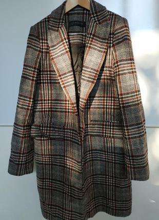 Клетчатое пальто zara