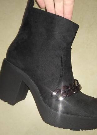 Ботильоны флис деми женские ботинки жіночі полуботинки осень
