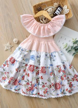 Платье для девочки, длинное