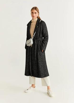 Пальто шерсть манго  хит модель букле халат! оверсаййз. премиу...