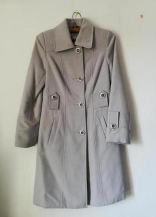 Кашемировое длинное серое пальто