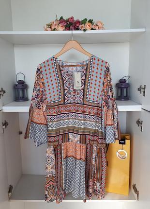 Летнее платье в стиле бохо с вискозы tu