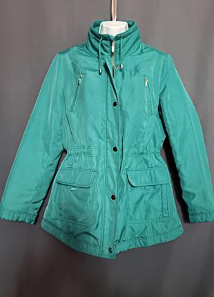 Куртка парка деми женская пальто удлиненное EUR40 р.М M&S тренд