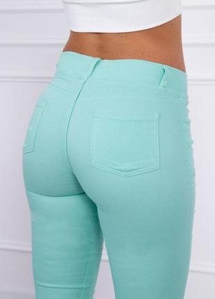 Плотные брюки джинсы стрейч утяжка